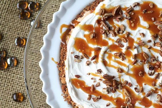 Pumpkin Ice Cream Pie!  Perfect for Thanksgiving