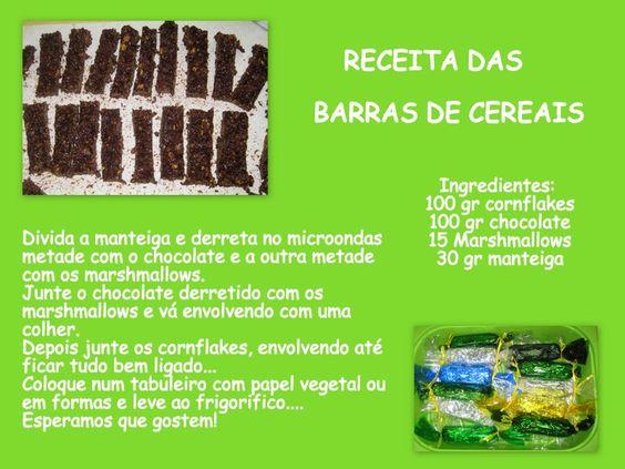 Culinária Barras de Cereais