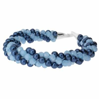 Kumihimo Bracelet - Baby Blue  You must have a go at these bracelets, they are so easy to make and very pretty. They come with full instructions for you to use. I am sure all your friends will be asking you to make one, but don't tell them it only cost £4.99.