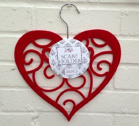 Scarf Holder - Red Heart Scarf Hanger (106-261): Amazon.co.uk: Kitchen & Home