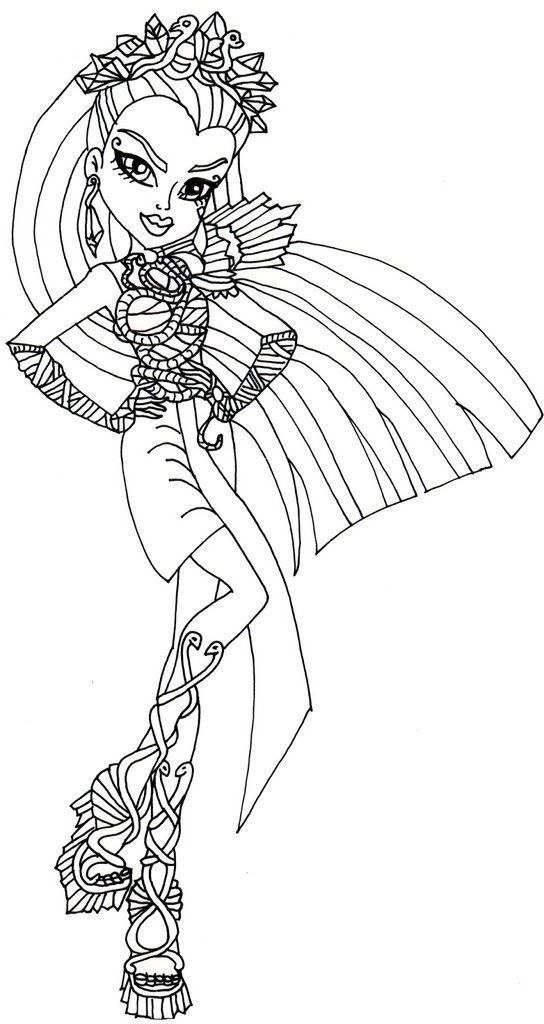 Coloriage Monster High Boo York Monster Coloring Pages Coloring