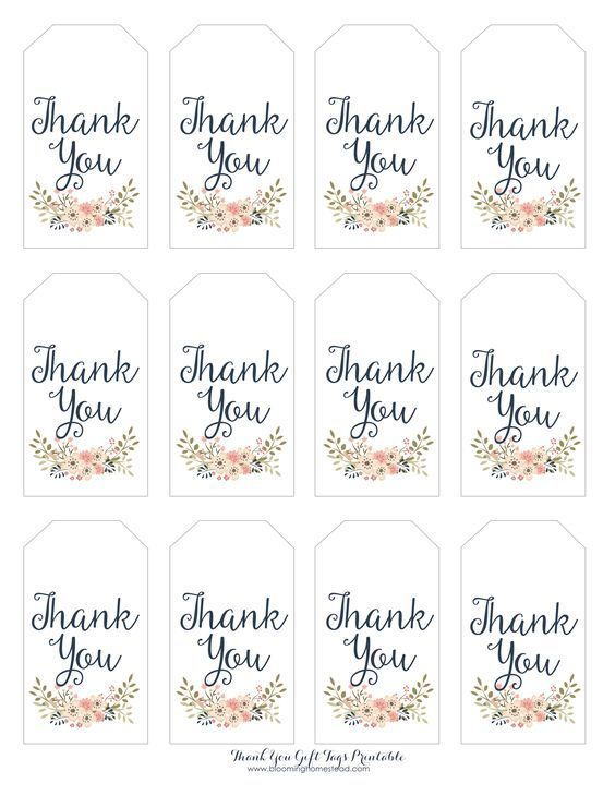 Thank You Gift Tags Blooming Homestead Gift Tags Printable Free Printable Favor Tags Free Gift Tags