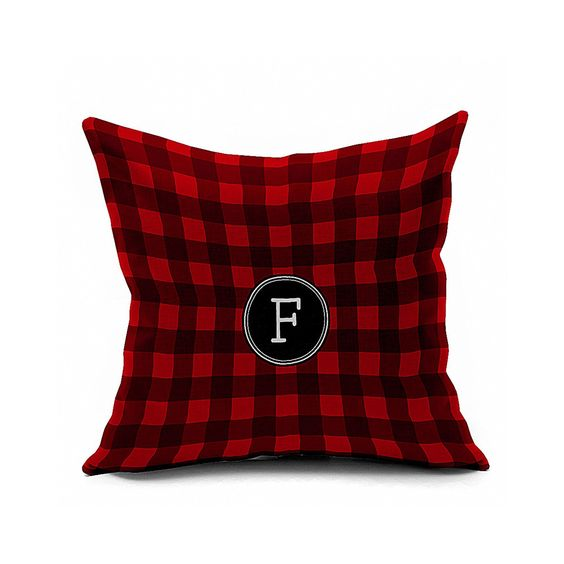Cotton Flax Pillow Cushion Cover Letter ZM195