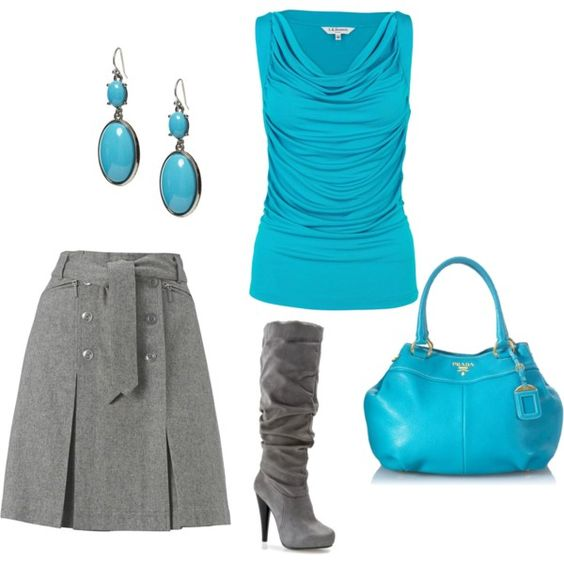 Love the color :-). Turquoise, created by riddlechick on Polyvore