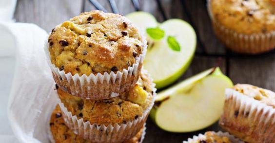 Recette de Muffins allégés pomme et chocolat façon Desperate Housewives. Facile et rapide à réaliser, goûteuse et diététique.