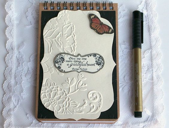 Butterfly Gratitude Journal Writing Journal by BellaBoutique23