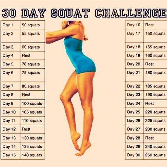 Squat Challenge   Health & Fitness   Pinterest   Défi squat, Squats ...
