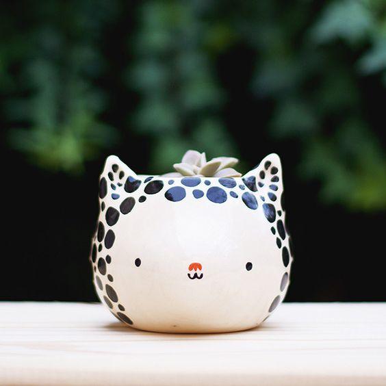 Vaso Miau Dots