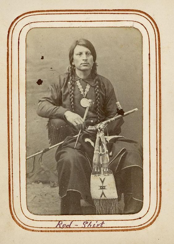 The real Red Shirt, Oglala Sioux, 19th-century: