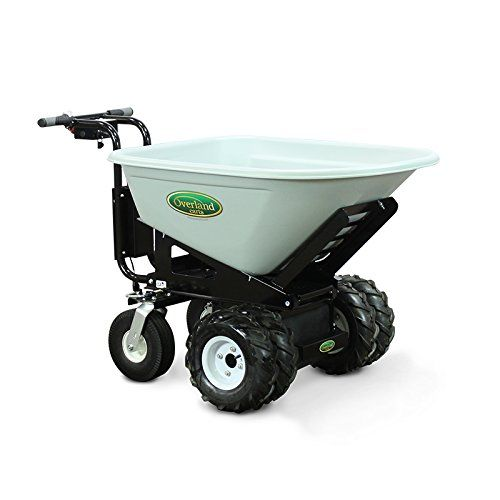 Overland Electric Powered Cart With 8 Cubic Foot Hopper On Heavy Duty 27 Inch Chassis 750 Pound Powered Wheelbarrow Motorized Wheelbarrow Electric Wheelbarrow