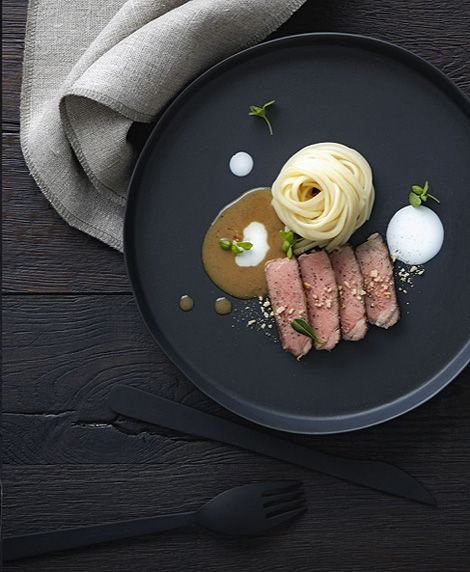Chefs style and sauces on pinterest for Plaque decorative cuisine