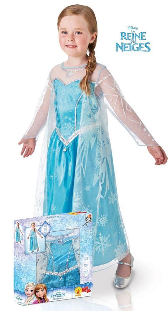 Deguisement Luxe Elsa La Reine Des Neiges Fille 8 A 10 Ans Licence Officielle Elsa Reine Des Neiges Deguisement Elsa Robe Princesse