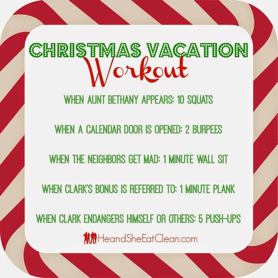 We thought it would be fun to add in a little exercise while watching National Lampoon's Christmas Vacation...Have fun! #heandsheeatclean #eatclean #holidays