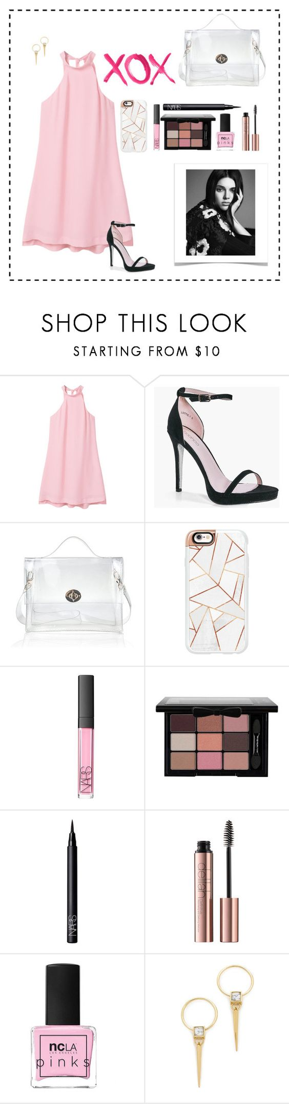 """""""GM #31"""" by geovanacelia ❤ liked on Polyvore featuring MANGO, Boohoo, Casetify, NARS Cosmetics, ncLA, Alexis Bittar and GALA"""