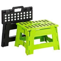 The Easy Fold Step Stool is a great way to be able to reach the shelves in your closet
