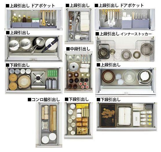 システムキッチン収納の勉強 食器 収納 引き出し キッチン 収納