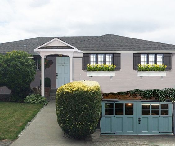 Front Windows, Paint Colors And Exterior Remodel On Pinterest