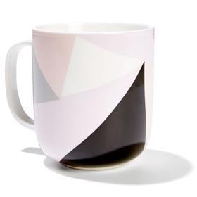 600ml Geometric Print Mug - Pastel, Assorted