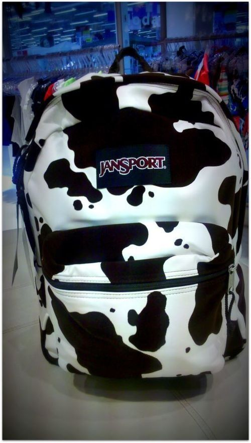 Cow print backpack. i would definitely use this love.thegoodbags.com Biggest sale of the season. Michael Kors Jet Set Scarf Large Grey///$61.99