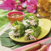 thai salad rolls with spicy sweet sour sauce