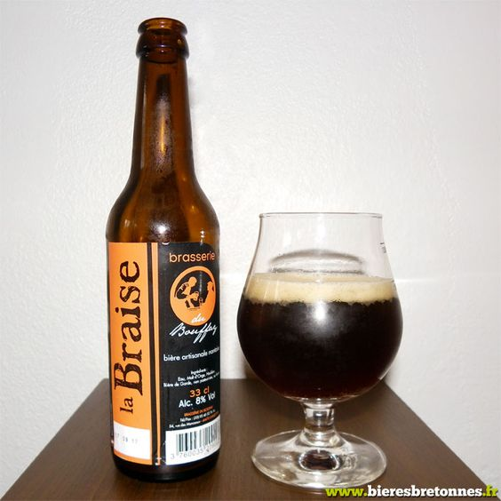 La Braise, bière brune bretonne de la Brasserie du Bouffay (44)