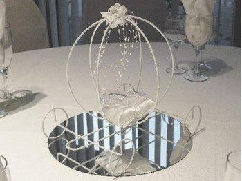 centre de table pour mariage theme conte de fee princesse cendrillon carrosse 1 an pinterest. Black Bedroom Furniture Sets. Home Design Ideas