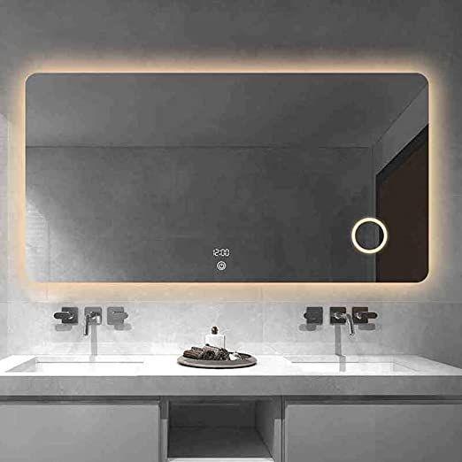 Qz Bathroom Mirror Smart Led Light Mirror Bathroom Wall Anti Fog Mirror Simple Vanity Mirro In 2020 Mirror Wall Bathroom Lighted Bathroom Mirror Led Mirror Bathroom