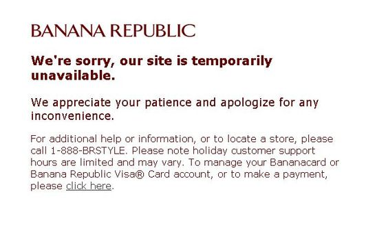 We're sorry, our site is temporarily unavailable.  We appreciate your patience and apologize for any inconvenience.
