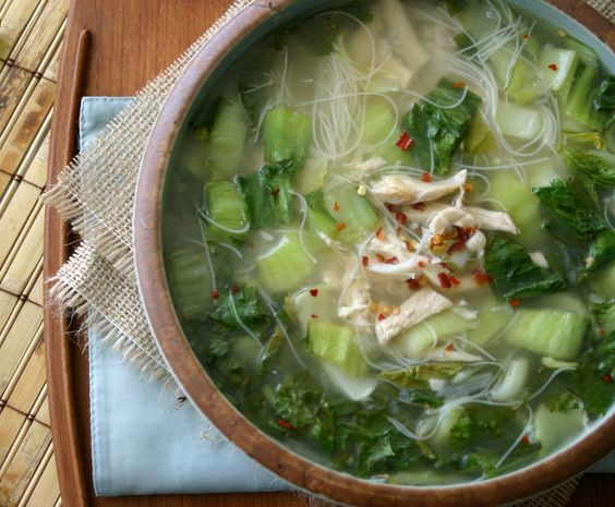 Spring Thai Chicken Noodle Soup   5 Weight Watchers Points Plus