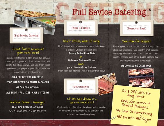 Full service catering is here! We provide catering services to Brantingham and the surrounding areas with creative dishes and friendly service. Our goal is to be your first choice when planning your wedding or your next corporate or social event.   http://trailsidebrantingham.com/catering.html