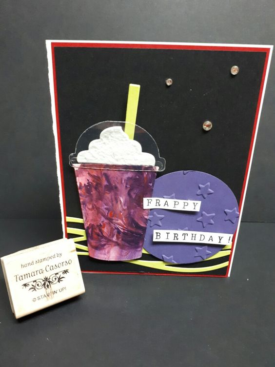 I created this card to play along with As You See It Challenge Blog. Challenge #156 It's a colour challenge to use Real Red, Elegant Eggplant, and the new Lemon Lime Twist! It's difficult to tell, but this is a cosmic frappe, complete with Wink of Stella glitter! Created by Tamara Casorso #Stampinup #papercraftingwithtamaracasorso #aysiblog  #challenge156