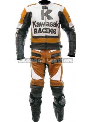 Kawasaki Racing Orange Ninja Biker Leathers