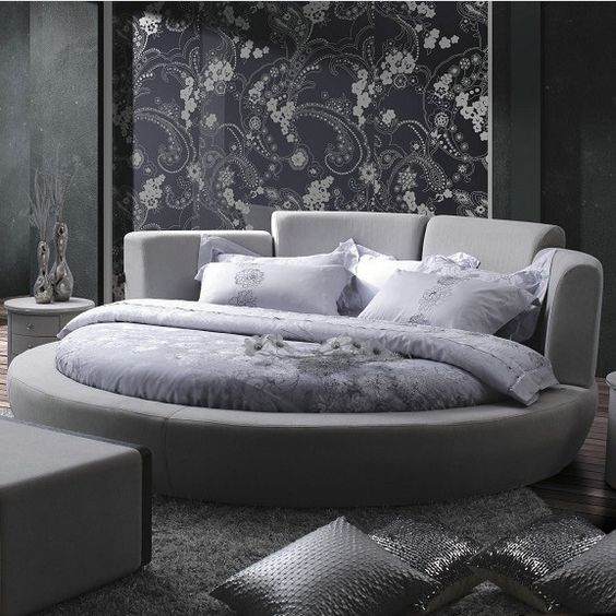 Interiors beds and bedrooms on pinterest for Round bed design