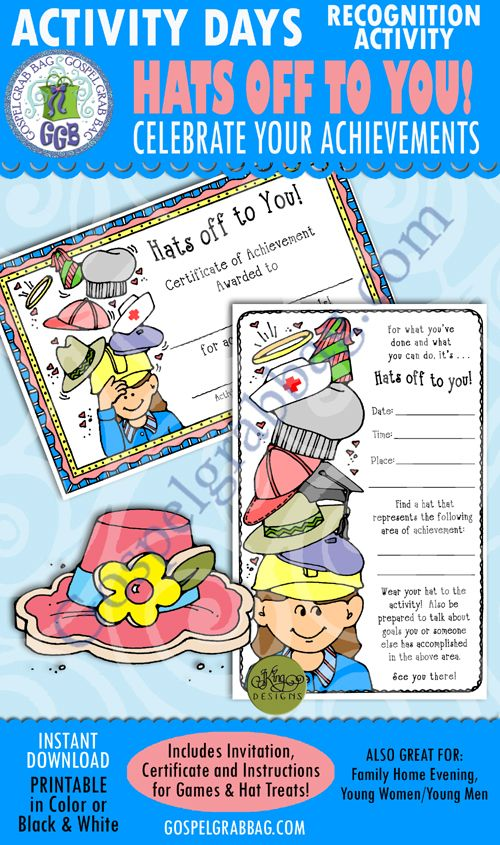 Hats Off To You Recognition Activity With Images Activity