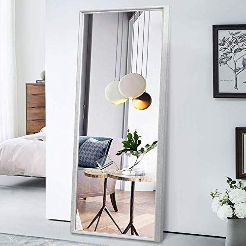 New Pexfix 65 X22 Floor Mirror Full Length Stylish Color Blocking Framed Standing Mirror Wall Mounted M In 2020 Wall Mounted Mirror Dressing Mirror Full Length Mirror