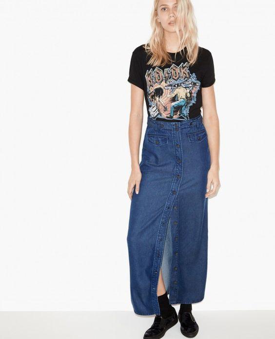 Long tencel skirt