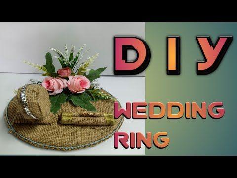 Diy Wedding Ring How To Make A Diy Wedding Ring Tutorial Membuat Tempat Cincin Pernikahan Youtube Pembuatan Perhiasan Kreatif Bunga