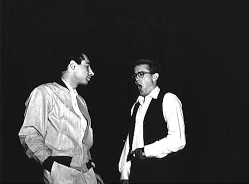 jamesdeandaily:  James Dean and Leonard Rosenman.