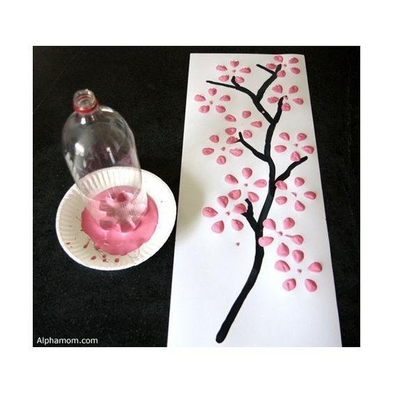 Make Easy Cherry Blossom Art