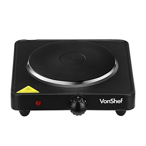 VonShef Compact Portable Single Hot Plate Table Top Kitchen Camping Burner in Black, http://www.amazon.com/dp/B00R35O86W/ref=cm_sw_r_pi_awdm_qbDRwb00FJBHX