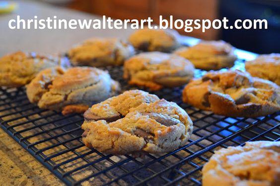 Christine's Peanut Butter Chocolate Chunk Cookies.