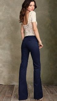 navy blue pants -- teaching outfit.