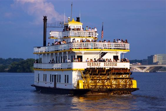 Imagine celebrating your wedding day on this classic riverboat! {Potomac Riverboat Company}