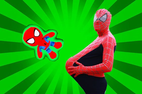 PREGNANT SPIDERMAN vs FROZEN ELSA & SPIDERBABY! Superheroes Funny in Real