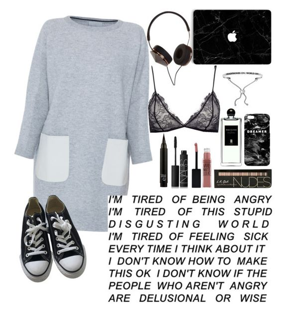 """I'm tired."" by wolvestyle ❤ liked on Polyvore featuring M.Patmos, NARS Cosmetics, Maybelline, Mr. Gugu & Miss Go, Serge Lutens, Converse, Anine Bing and Frends"