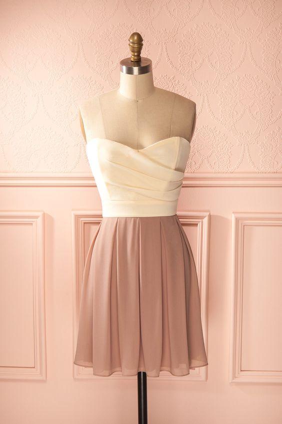 Les tons des photographies d'antan s'exhibent dans cette robe douce et…