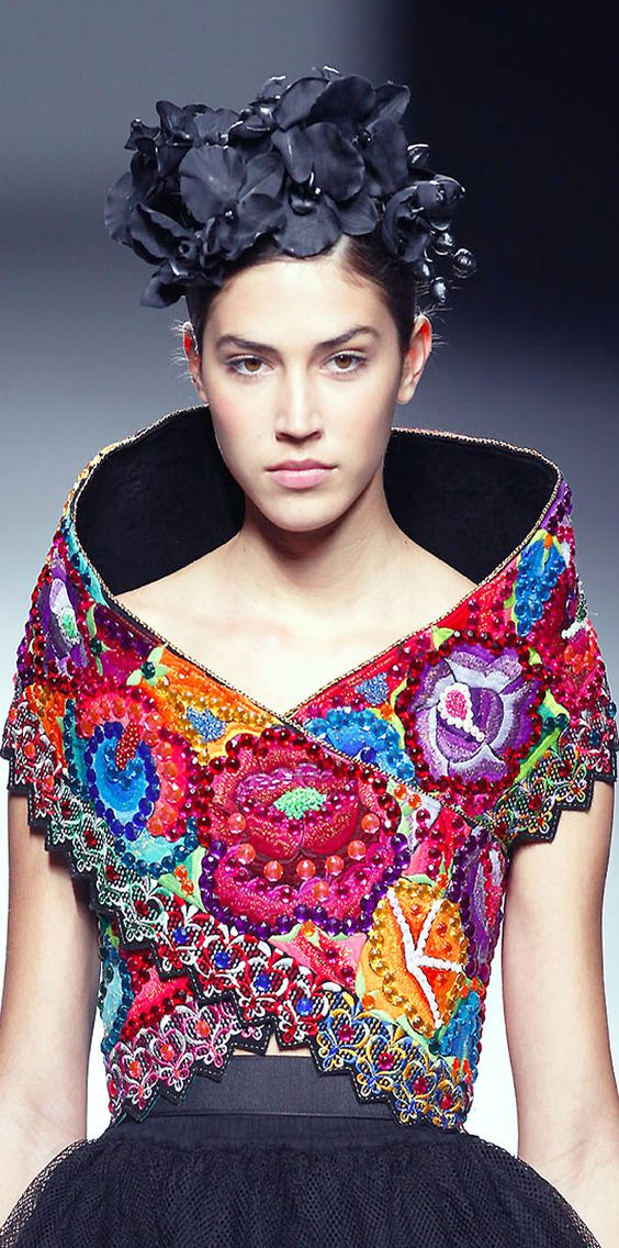 Meche Correa embellished multicolored top #UNIQUE_WOMENS_FASHION