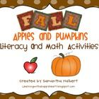 $ This 91 page unit is the perfect addition to your fall curriculum. It uses the theme of apples and pumpkins to teacher several K/1 skills. It inclu...