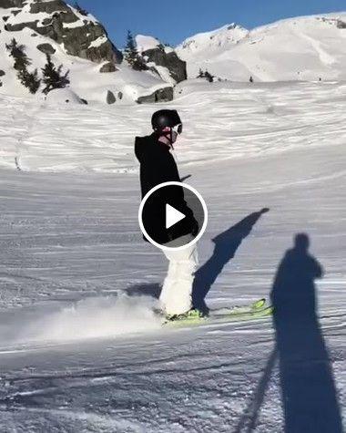 Esquiando de outro jeito.