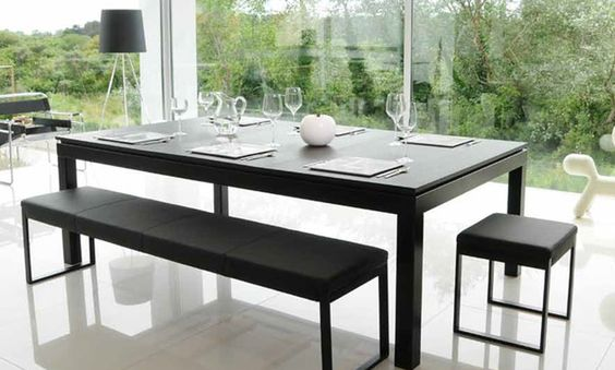 The Fusion Table certainly is, as they claim, a new dimension in dining. What a great idea! Once dinner is over, take away the dishes, slide back the table